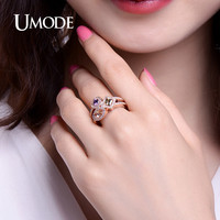 UMODE Multishaped And Multicolor Simulated bijoux Cocktail Rings Gold / Rhodium/ Rose Gold Color Jewelry for Women Aneis UR0363