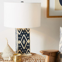Ikat Inlay Lamp Ensemble