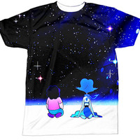 Steven Universe Shirt | Lapis Lazuli Shirt | Crystal Gems Garnet Amethyst Pearl | All Over Sublimation Print | HD Front and Back Tshirt