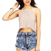 Brocade Crop Top