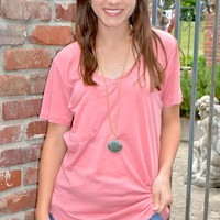 The Perfect Pocket Tee - Sienna