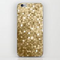 Gold glitter texture iPhone Skin by printapix