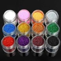 12 Colors Holo Nail Art Powder Shiny Glitter Dust Slice Tips Holographic Decoration - Banggood Mobile