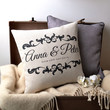 Vintage Style 'Couple' Cushion Cover