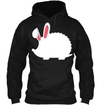 Hedgehog Easter Bunny T-Shirt For Kids Pullover Hoodie 8 oz