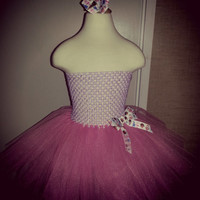 Doc mcstuffin inspired tutu dress