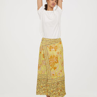 Patterned skirt - Yellow/Patterned - Ladies | H&M GB