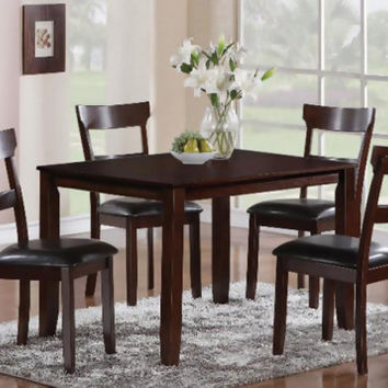 Chocolate Brown Dinette Black Cushion  Henderson Five Piece Dining Set   American Freight