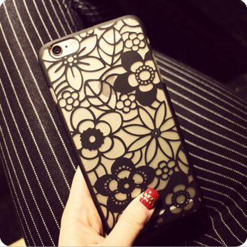 Sexy hollow flowers mobile phone case for iphone 5 5s SE 6 6s 6plus 6s plus + Nice gift box!