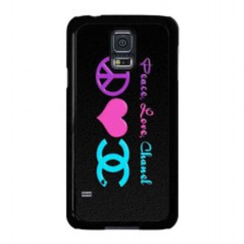 Peace Love Chanel for samsung galaxy s5 case