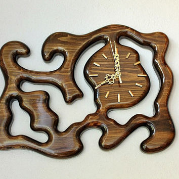 Wood Wall Hanging Clock, Rustic Wooden Clock, Modern Home Clock, Unique Gift Idea, Modern Office Clock, Wood Wall Clock, Unique Wall Clock