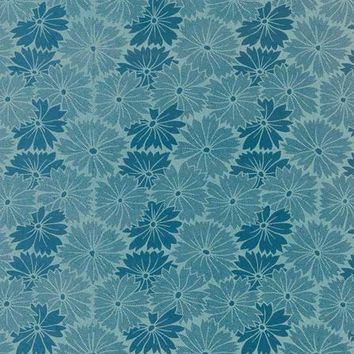 EMPIRE BLUE FLOWERS PRINTED PHOTOGRAPHY BACKDROP / 1083