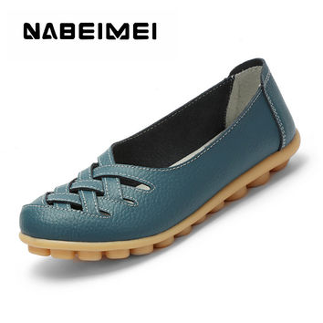 Women's shoes Pig Leather Flat with Superstar Big size 34-44 Oxford shoes women loafers Casual shoe
