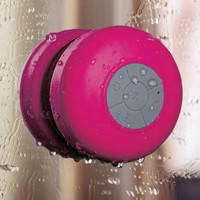 HDE Mini Rechargeable Wireless Bluetooth Hands Free Mic Waterproof Outdoor Speaker (Pink)
