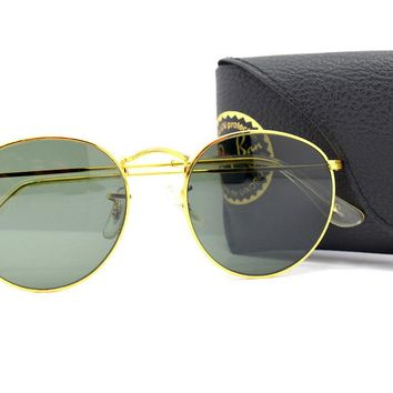 Vintage Bausch and Lomb Ray-Ban W2467 Gold Round Sunglasses