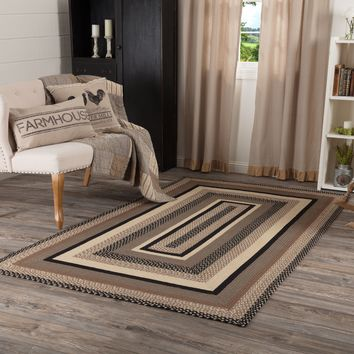 Sawyer Mill Charcoal Collection Braided Rugs - Rectangle