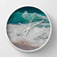 WAVE BEAUTY Wall Clock by Catspaws