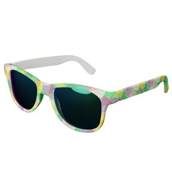 Stained glass geometric pattern sunglasses