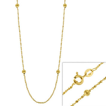 """14k Gold Filled Italian Twisted Serpentine Chain Necklace w/ Ribbed Beads 16"""""""" 18"""""""" 20"""""""" 24"""""""""""