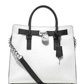 Michael Michael Kors Large North South Colorblock Hamilton Tote