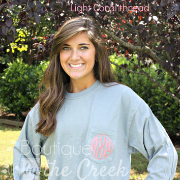 Alpha Chi Omega Sorority Unisex Long Sleeve Pocket Tee AXΩ AXO