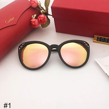 Cartier fashion retro big box female models driving polarized sunglasses #1