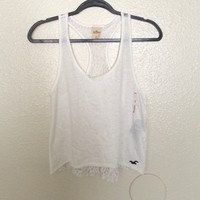 NWT Hollister white top