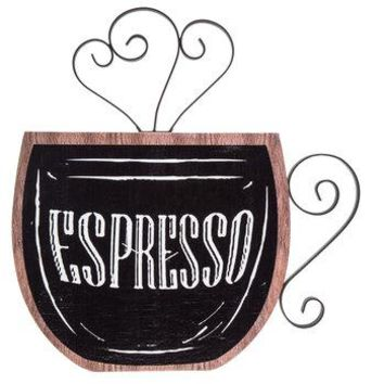 Espresso Wood Wall Decor