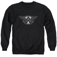 Batman V Superman Wonder Woman Glow Logo Mens Crewneck Sweatshirt