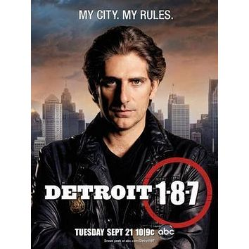 Detroit 187 poster Metal Sign Wall Art 8in x 12in