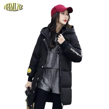 2017 New Winter jacket women New Long Slim Solid color Down Coats Korean style Winter Comfortable Warm Thick Down Jacket WKM250