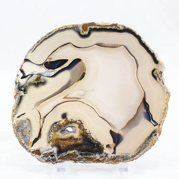 Brazilian agate slice with flawless translucency