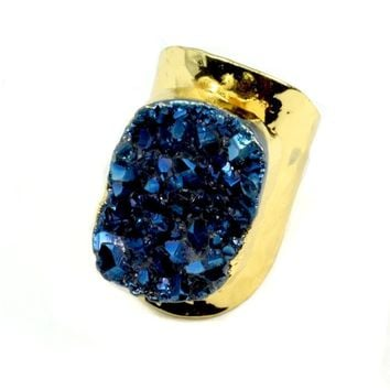 Amy Druzy Statement Ring in Gold