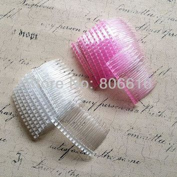 70*43MM 20PCS (white & pink) Plastic Hair Comb Claw Hairpins DIY Jewelry Accessories Findings & Components