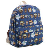 """Little Owl"" Print Backpack School Bag"