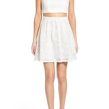 Sequin Hearts Two-Piece Mesh Skater Dress | Nordstrom