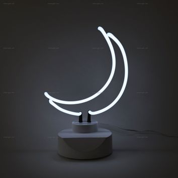 Moon Neon Table Top Sign