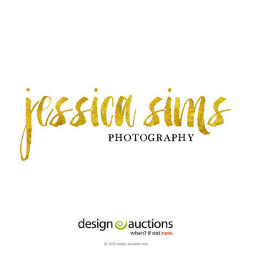 Premade Logo Design Text Only Logo Gold Foil Logo Photography Logo Watercolor Logo Website Blog Logo Gold Text Logo Design Boutique Logo