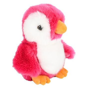 8 Inch Stuffed Pink Penguin Plush Sitting Animal Prism Collection