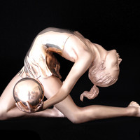"Saatchi Online Artist: Eleanor Cardozo; Bronze, 2010, Sculpture ""ARCHED GYMNAST"""