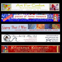 custom made shop banners with avatar - one of a kind