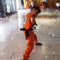CaGiPlay Japanese Children's Halloween Anime Dragon Ball Z Monkey Cosplay Costumes Boys Clothes Kids Party Costume S-L