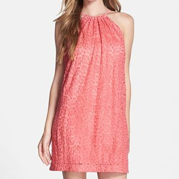 Women's Trina Turk Embroidered Mesh Shift Dress,