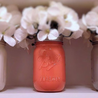 Colorful Painted Mason Jars
