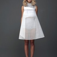Sheer White Dress with Applique | NOT JUST A LABEL