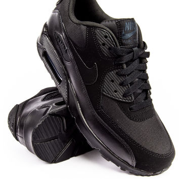 "Nike Air Max 90 Essential ""Triple Black"" Sneaker"