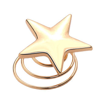 Gold Star Spiral Hair Pin