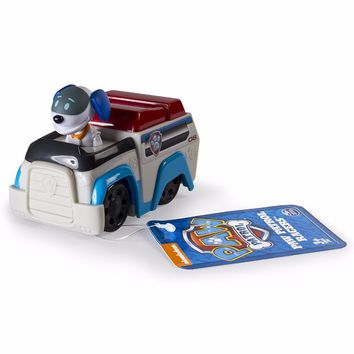 Genuine 2017 Paw Patrol Dog Ryder Robo Anime bath Toys Action Figure dog Kid Puppy Patrol Patrulla Canina Toys For Child Gift