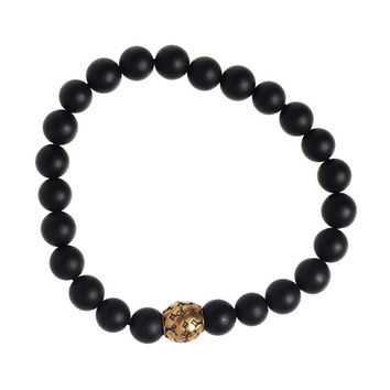 I liked this design on #Fab. Astro Onyx Bracelet Bronze