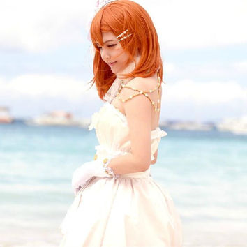S/M/L [Love Live] Kousaka Honoka Wedding Cosplay Costume CP153842